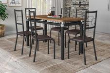Conjunto Copenhague com 6 Cadeiras