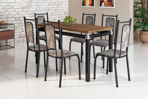 Conjunto Copenhague com  6 Cadeiras Califórnia