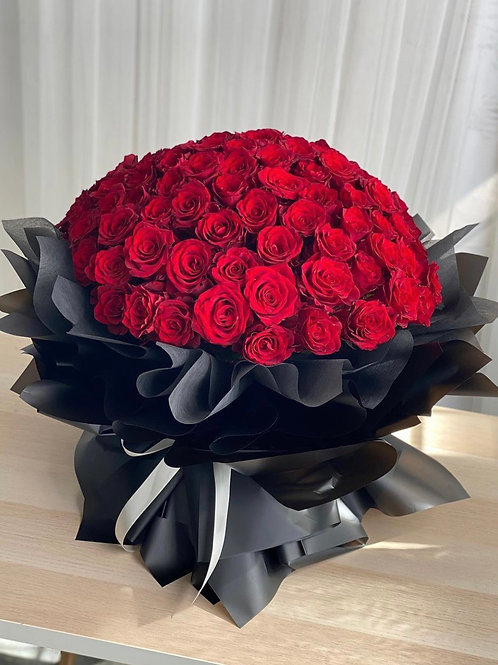 Eternal love (99 premium long stem red rose hand bouquet)