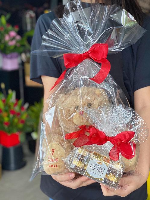 Chocolate and love bear bundle