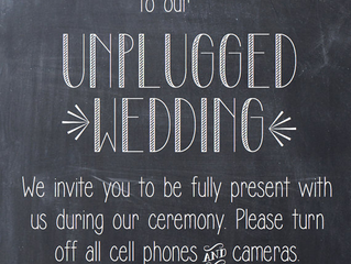 "Choosing the ""UNPLUGGED"" Wedding Ceremony"