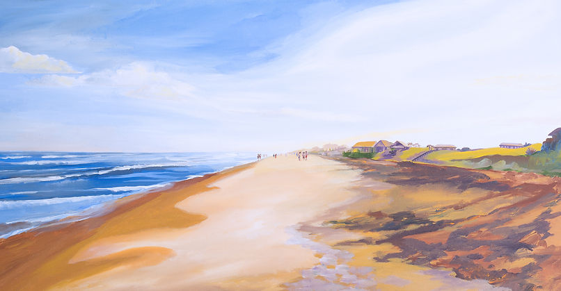 Seascape painting of the ocean at Jacksonville Beach