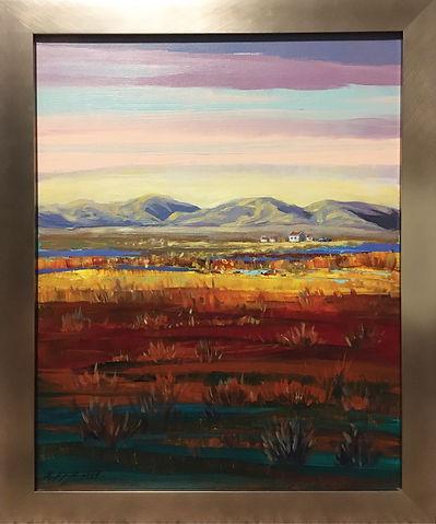 16x20 Framed Prarie mountain home $750 1