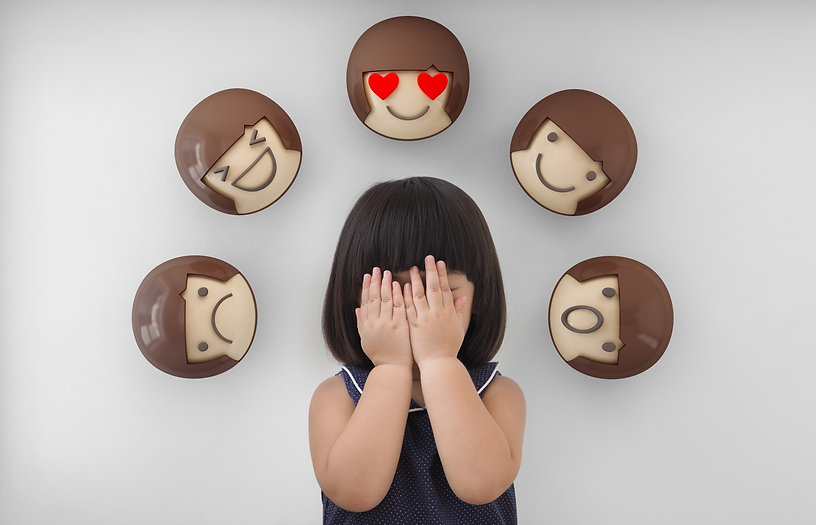 Asian child girl with white background,