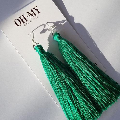 Emerald silk tasseld
