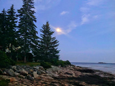 Moon Rising Southport Maine
