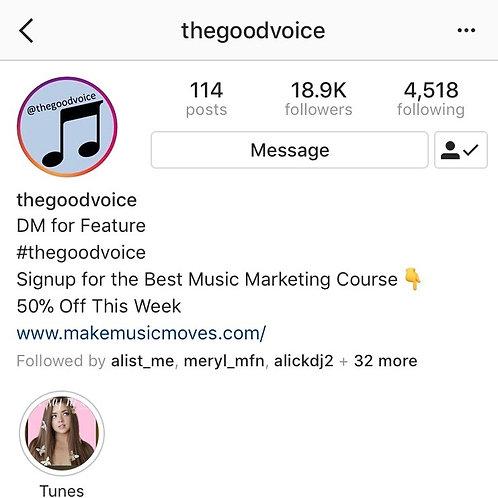 Feature On @thegoodvoice
