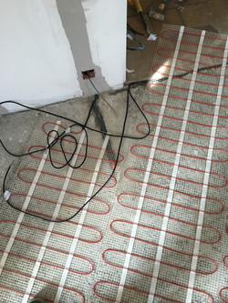 Pose chauffage au sol électrique