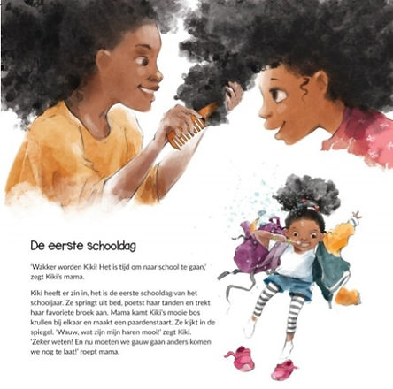 prentenboek kiki leert op school. Boek over educatie, diversiteit en zelfacceptatie