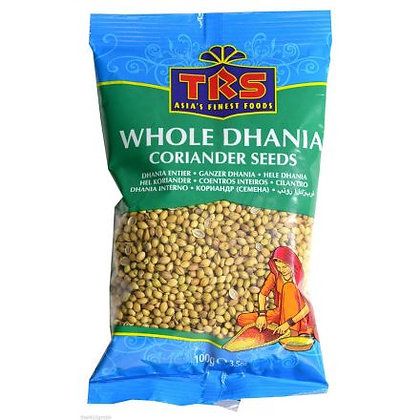 TRS Whole Dhania Coriander Seeds 100g