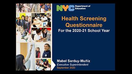 Health Screening in English