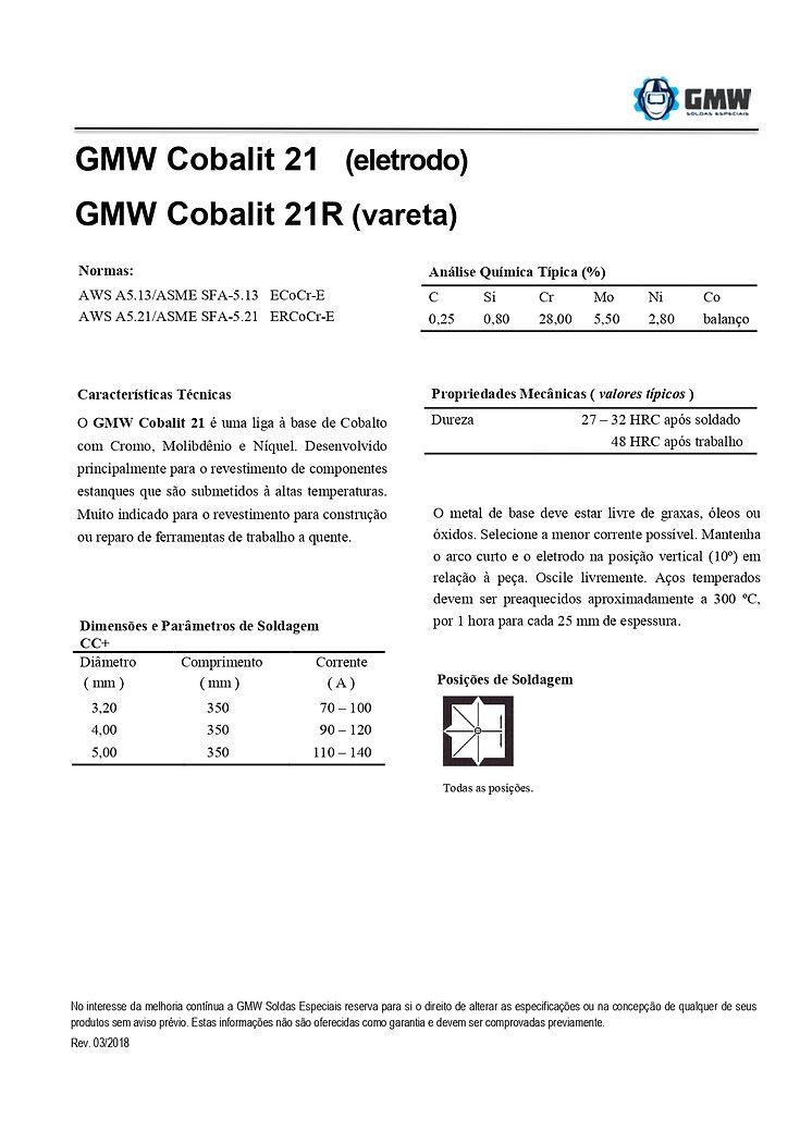 GMW Cobalit 21 e Cobalit 21R  Rev. 03 20
