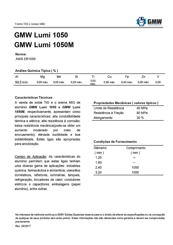 GMW Lumi 1050 e 1050M  Rev.00 2017 - Ari
