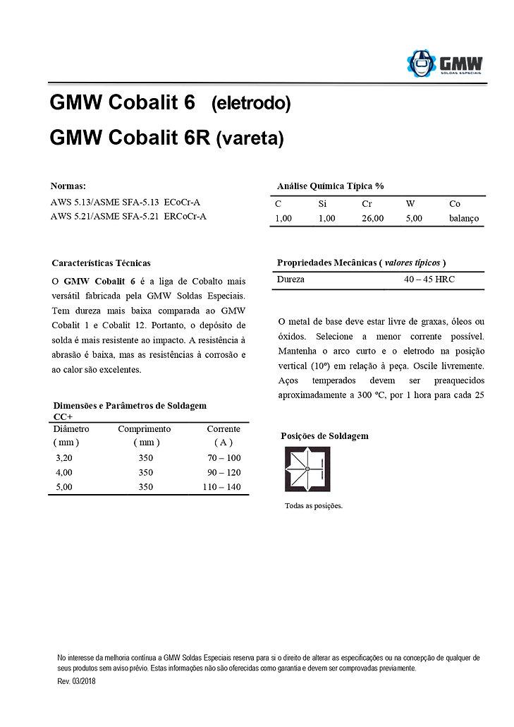 GMW Cobalit 6 e Cobalit 6R  Rev. 03 2018