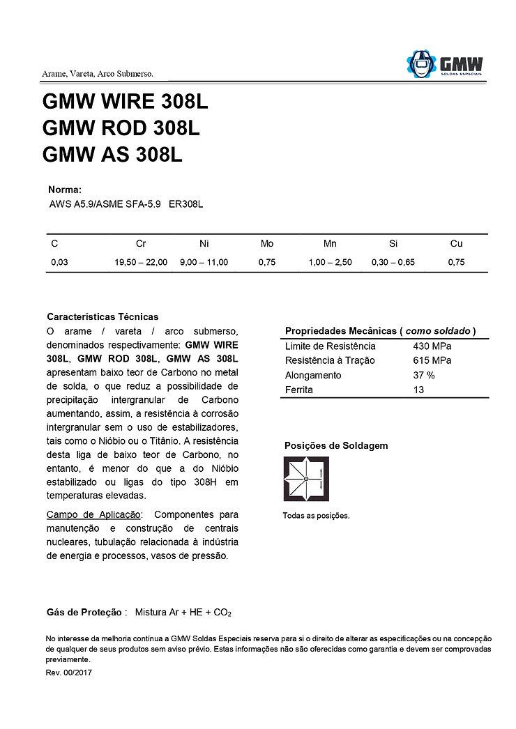 GMW WIRE ROD AS 308L  Rev.00 2017 - Aria
