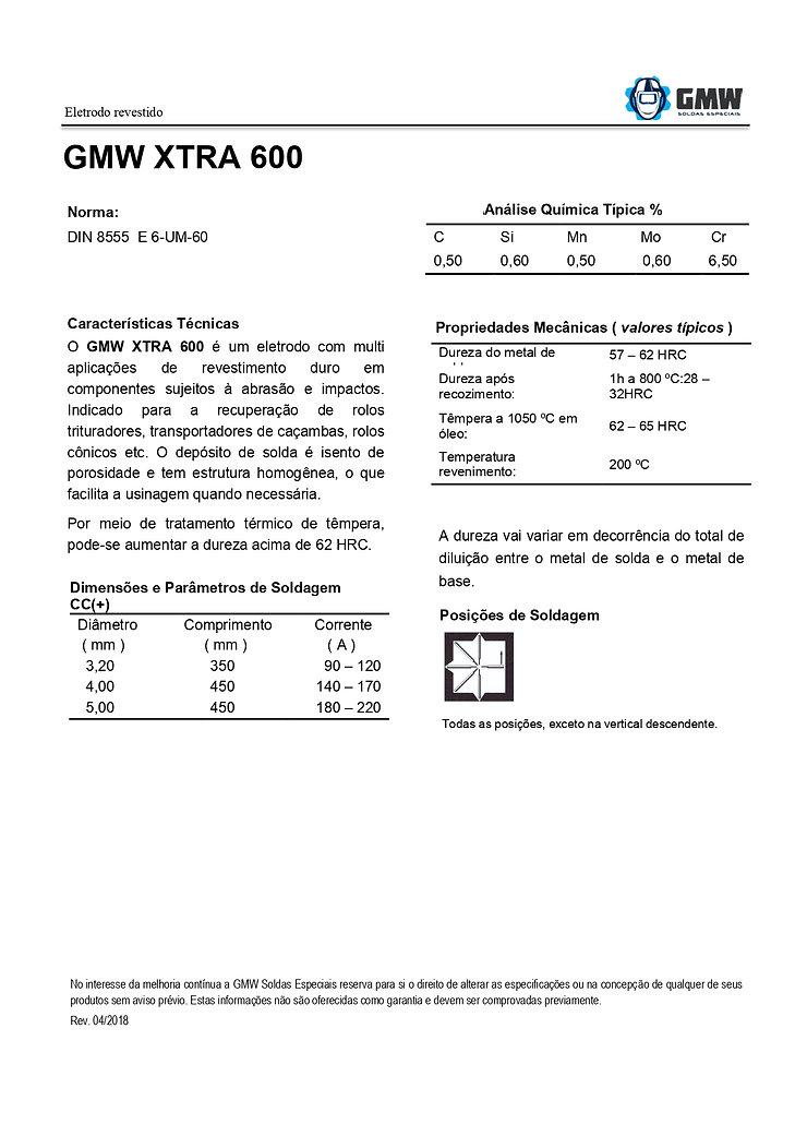 GMW XTRA 600  Rev. 04 2018 - Arial - PDF