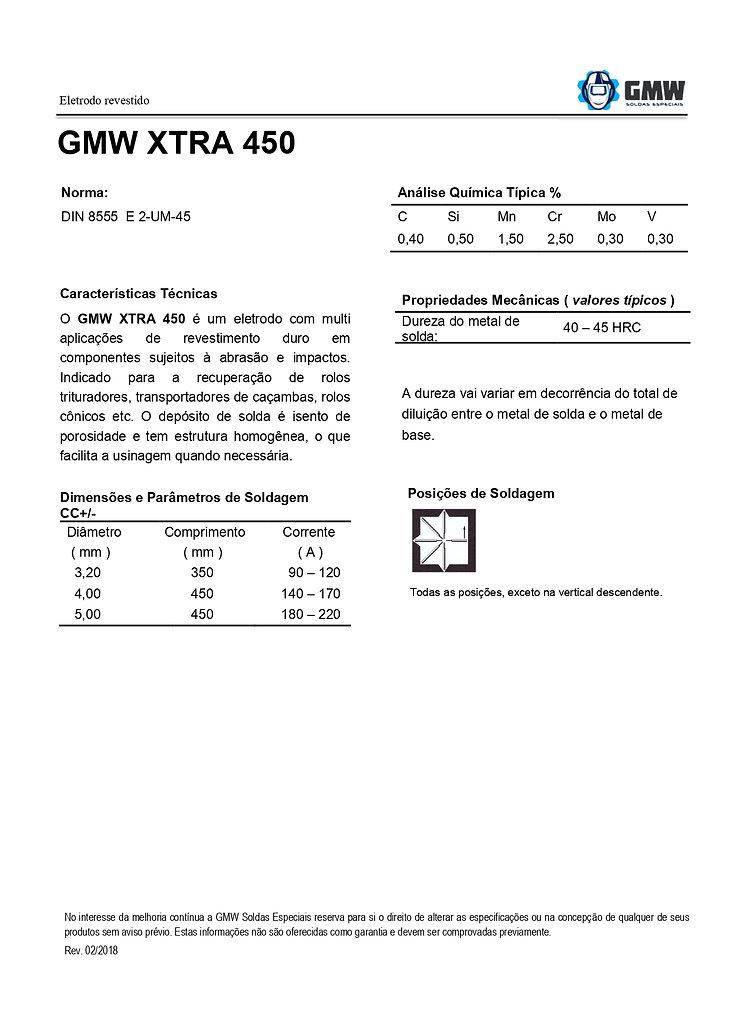 GMW XTRA 450  Rev. 02 2018 - Arial - PDF
