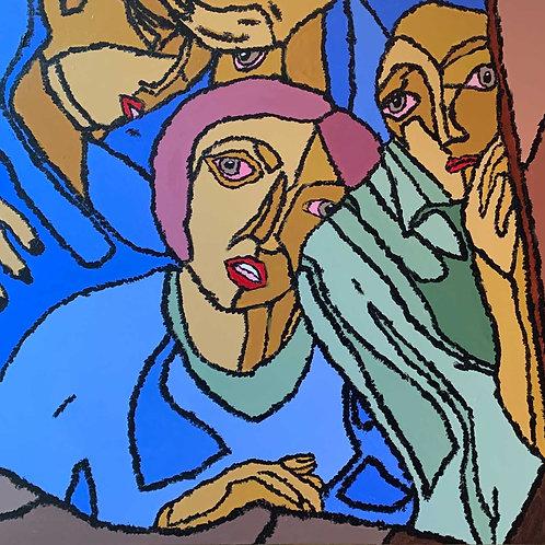"""Ursus Rising"" acrylic on gallery canvas"