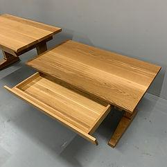 62 Screws custom hardwood office desk with premium White Oak drawers