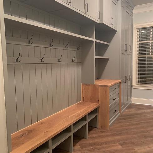 62 Screws luxury custom hardwood built-ins in North Atlanta