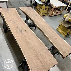 62 Screws luxury live edge dining tables, live edge desks, live edge conference tables in North Atlanta
