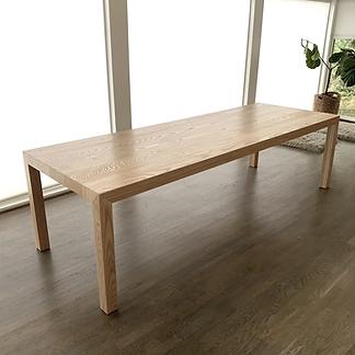 62 Screws custom parsons dining table, premium modern dining table, hardwood dining table
