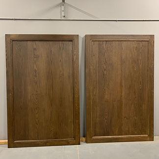 62 Screws custom White Oak barn doors made and installed in Alpharetta, Georgia
