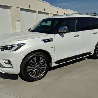 White SUV Window Tint
