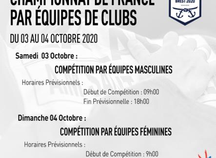 Programmation du championnat de France par équipe de clubs 1ère Division - Brest Arena