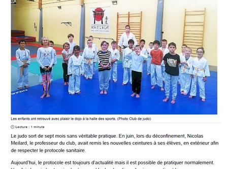 Les enfants de retour sur les tatamis...