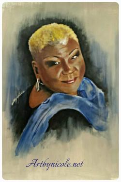 """""""Ms. Pinkney"""" Portrait"""