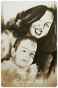 """""""Baby Stephanie & Mom"""" - Portrait"""