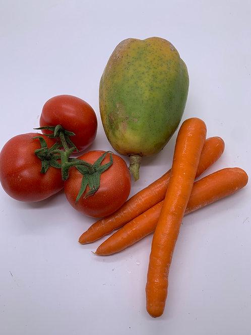 本地木瓜蕃茄甘筍湯包