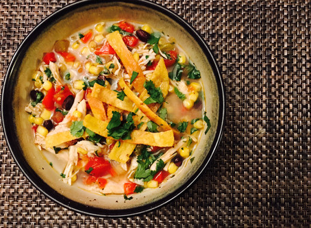 HEALTHY(ISH) CHICKEN TORTILLA SOUP