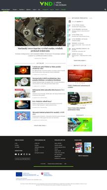 Webdesign Veda na dosah preview - Homepage