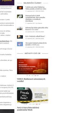Webdesign Veda na dosah - Sidebar preview