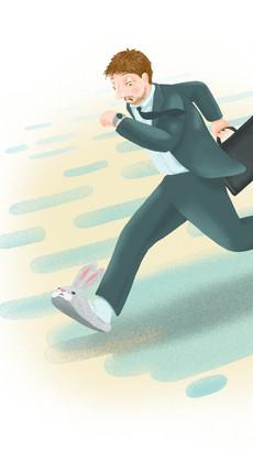 Daily Maygyar Illustration Rabbit Shoes