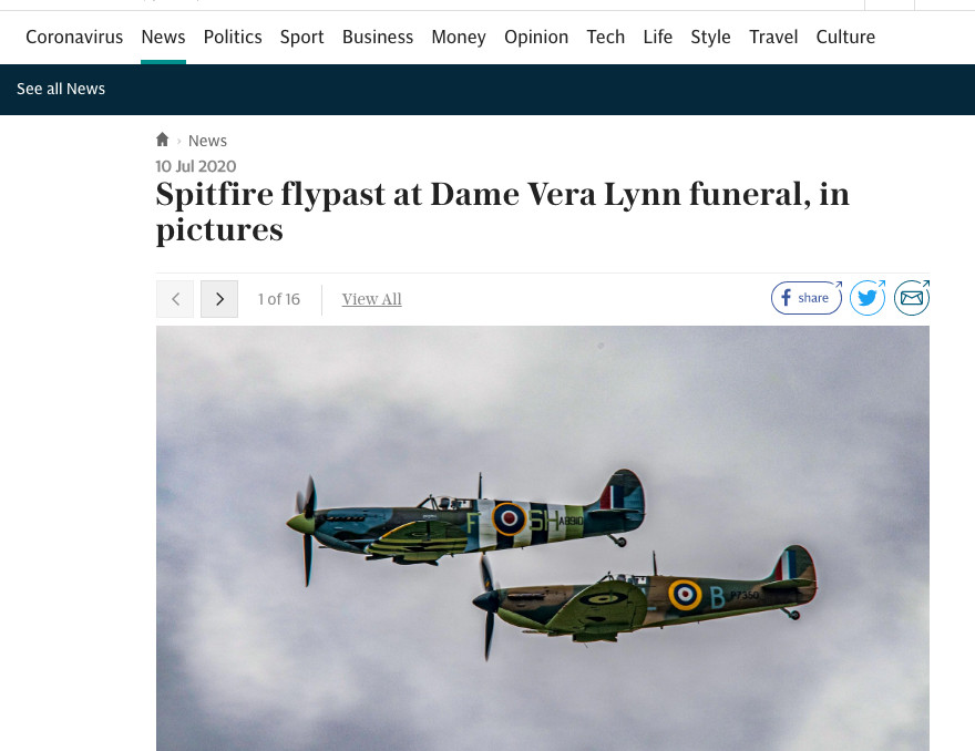 Daily Telegraph website 10-7-2020