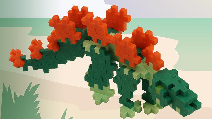 Plus Plus Tube - Stegosaurus