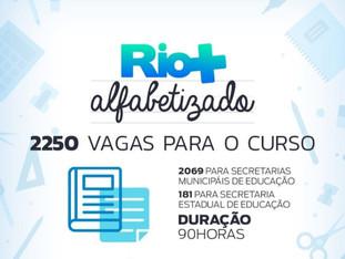 Inscrições abertas para curso de extensão gratuito do Programa Rio+Alfabetizado
