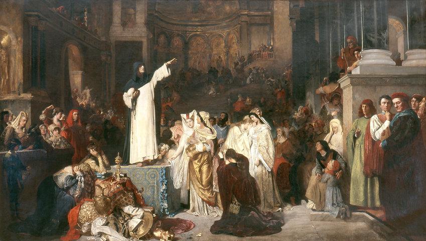 Savonarola-preaching-against-prodigality