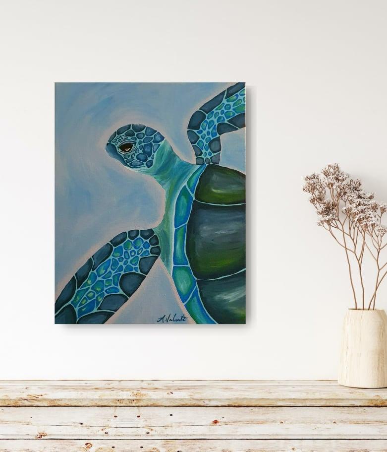 Paint, Swirl & Sip: Green Sea Turtle