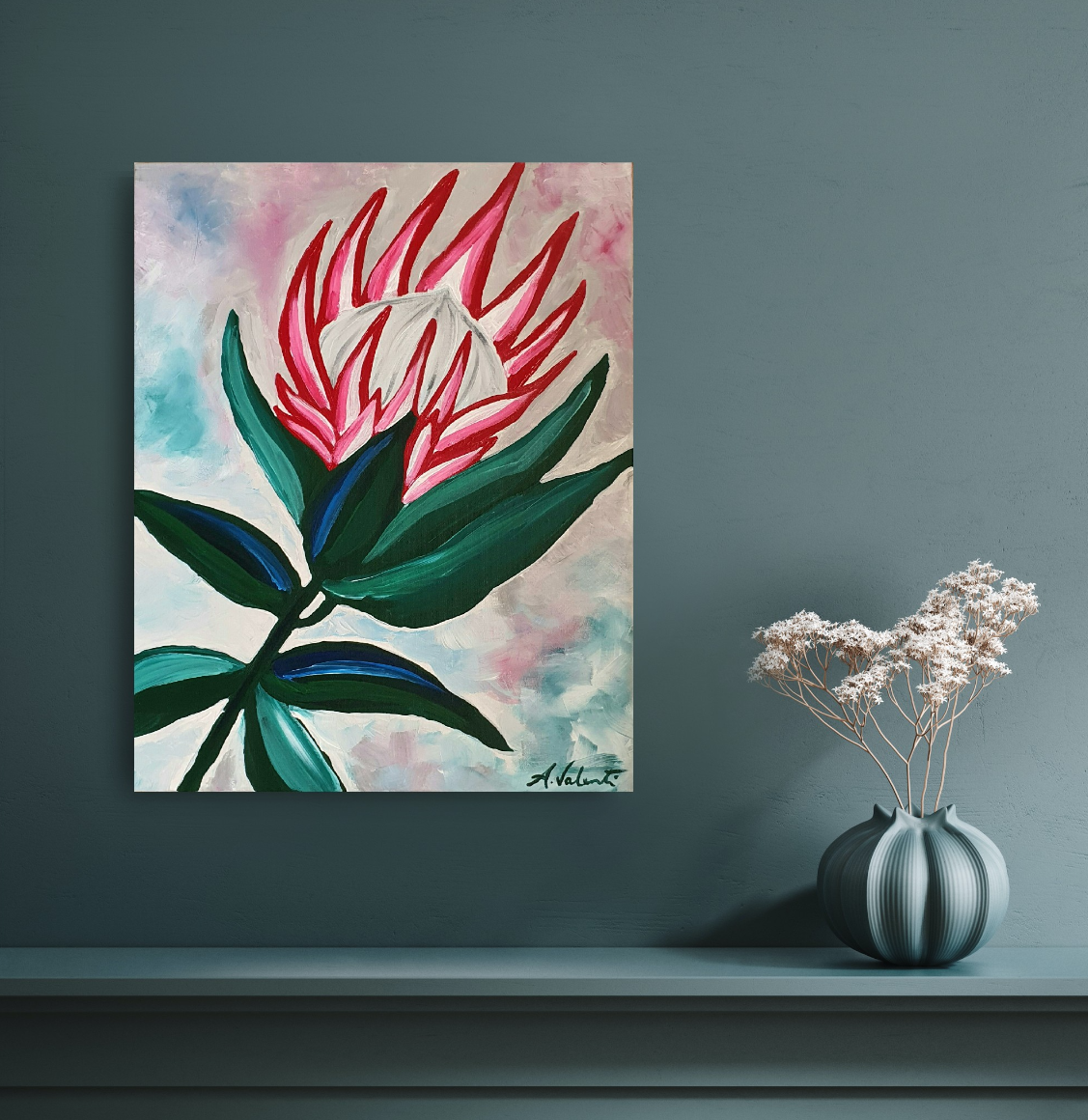 Paint, Swirl & Sip: King Protea