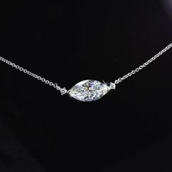 鑽石 18K白鑽石項鍊