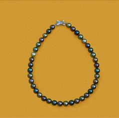 黑彩南洋珠鍊