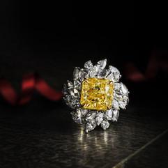 鑽石  金黃鑽戒