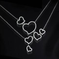 鑽石  18K白 鑽石項鍊