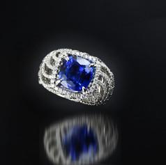 藍寶石  鑽戒