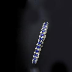 藍寶石  18K白藍寶鑽手鍊