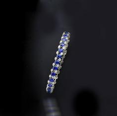 18K白藍寶鑽手鍊